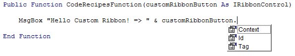 Custtom Button Properties